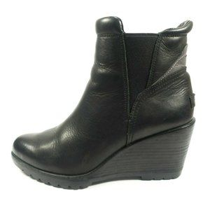 Sorel After Hours Leather Wedge Chelsea Boots